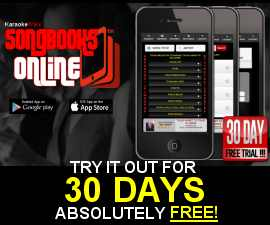 TRY SONGBOOKS ONLINE ABSOLUTELY FREE FOR 30 DAYS!